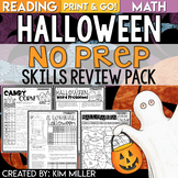 Halloween Activities NO PREP Reading and Math