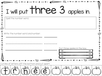 Name and Number Activities for September
