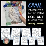 Owl Interactive and Pattern-Filled Pop Art Coloring Pages
