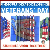 "Classroom Veterans Day Activity | ""Thank You Veterans"" 3D Poster (Agamograph)"