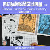 Unscramble the Famous Faces of Black History - Volume #2