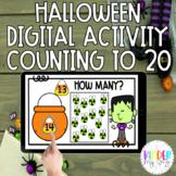 DIGITAL Counting to 20 Activity Halloween | Google Classro