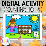 DIGITAL FALL Counting to 20 Activity | Google Classroom Ma