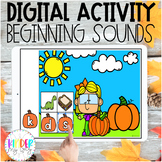 DIGITAL Fall Beginning Sounds Activity | Distance Learning