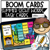 DIGITAL Summer Sight Word Activity   Sight Word BOOM Cards