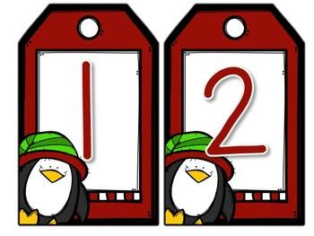 Christmas Number Line Math