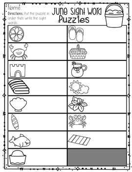 Sight Words Kindergarten Practice Pre Primer