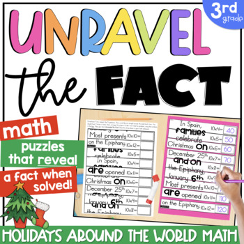 3rd Grade Math Puzzles | Unlock the Fact: Christmas Around the World Edition