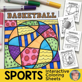 Sports Interactive and Pattern-Filled Coloring Sheets