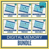 No Prep Digital Speech and Language Memory Game BUNDLE