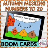 Fall Missing Numbers Boom Cards   Counting On 1 - 20