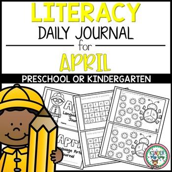 April Literacy Journal Preschool