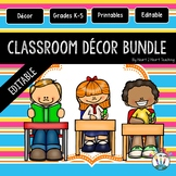 Blue, Pink, Orange, and Yellow Striped Classroom Decor Pack #2