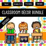 Orange, Lime Green, Blue, Yellow, and Pink Polka Dots Classroom Decor Pack #3