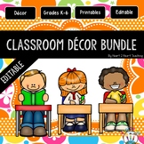 Orange and Lime Green Designed Classroom Decor Pack #4: