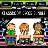 Black Striped Classroom Decor Pack #6