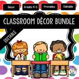 Rainbow Polka Dotted Classroom Decor Bundle #7