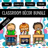 Blue and Pink Large Polka Dots Designed Classroom Decor Pack #9