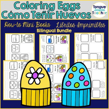 Coloring Eggs Mini-Books - Libritos Como Tenir Huevos Bundled