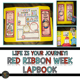 Red Ribbon Week 2018 Lapbook Life is Your Journey. Travel Drug Free.