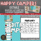 Camping Behavior Clip Chart - Classroom Management - EDITABLE
