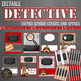 Detective Themed Binder Covers and Spines