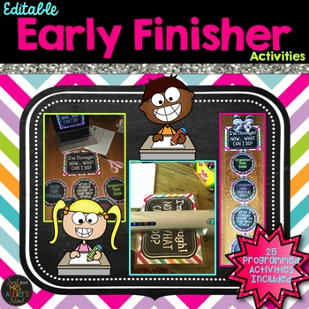 Early Finisher Activity Packet EDITABLE