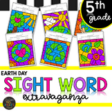 Earth Day Fifth Grade Sight Words Color by Code