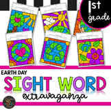 Earth Day First Grade Sight Words Color by Code
