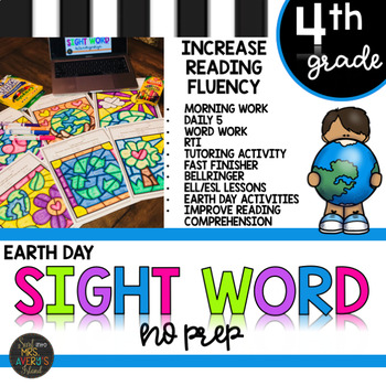 Earth Day Fourth Grade Sight Words Color by Code