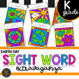 Earth Day Kindergarten Sight Words Color by Code