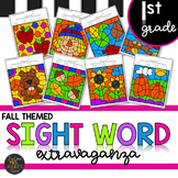 First Grade Sight Words Color by Code Fall Literacy Activities