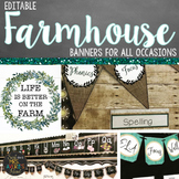 Farmhouse Banners Bundle - Editable