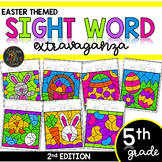 Fifth Grade Color by Code Sight Words | Easter Activities | Spring Activities