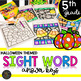 Fifth Grade Halloween Themed Color by Code Sight Word Activities