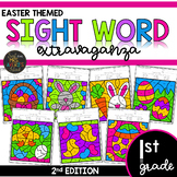 First Grade Color by Code Sight Words | Easter Theme | Spring Activities