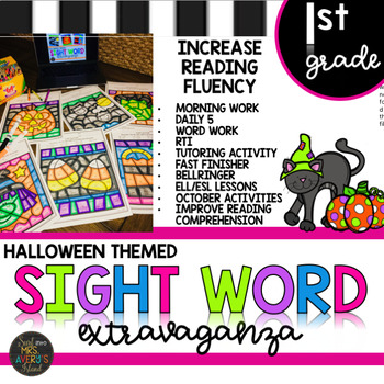 photograph relating to Printable Reading Fluency Games titled Very first Quality Sight Phrase Pursuits Halloween Concept Colour as a result of Code Printables