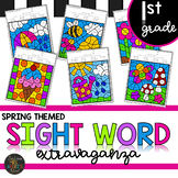 First Grade Sight Word Activities Color by Code Spring Activities