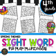 Fourth Grade Sight Word Activities Color by Code Spring Activities