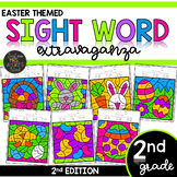 Second Grade Color by Code Sight Words | Easter Activities | Spring Activities