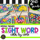 Second Grade Sight Word Activities Color by Code Spring Activities