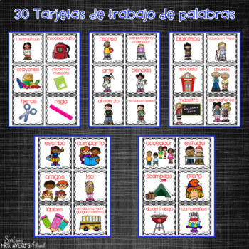 Spanish September Writing Prompts and Word Work