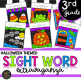 Third Grade Halloween Themed Color by Code Sight Word Activities