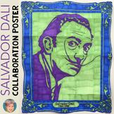 Salvador Dali Collaboration Portrait Poster - Famous Artist Series