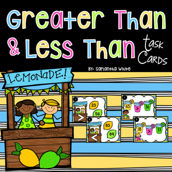 Greater Than Less Than Task Cards