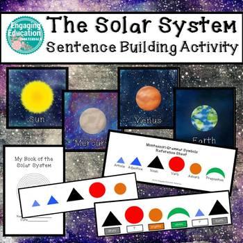 Solar System Sentence Building Activities