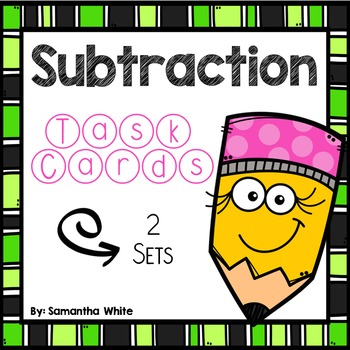 **50% Off First 48 Hours** ~ Subtraction Task Cards