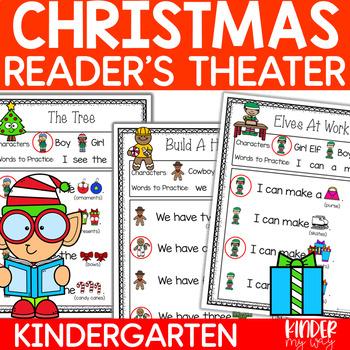 Readers Theater - Christmas | Fluency Practice Kindergarten | Partner Plays