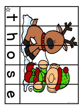 Sight Word Puzzles December   Sight Word Centers