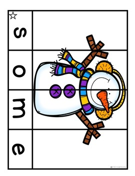**50% Off For 24 Hours** Sight Word Puzzles   Sight Word Practice December